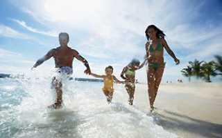 Отпуск летом двое детей