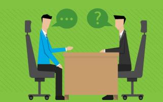 Интервью с кандидатом на вакантную должность