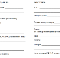 Адреса сторон в договоре