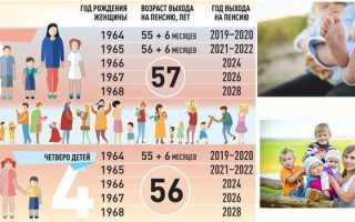 Пенсионный возраст в россии для многодетных матерей